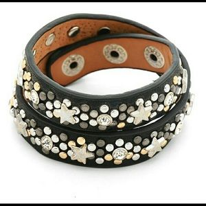 Coming Soon! Leather Star Wrap Bracelet